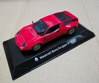 1/43 Scale Red Maserati Bora Gruppo 4 -1973 Car Models Vehicles Toys Gifts