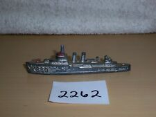 "Vintage 1940's Tootsie Toy Die Cast Metal Ship Destroyer K880 - 4"" Long"