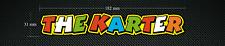 2 x 'THE KARTER' VALENTINO ROSSI Stickers/Decals - Karting - Go-Kart