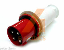 63 amp 4 pin plug 380 - 415 volt 63A waterproof IP67 industrial 3 phase red 3P+E
