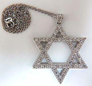 1.85ct round natural diamonds star pendant 14kt & Chain+