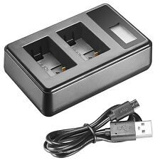 Neewer USB Dual Battery Charger with LED Display for Sony NP-FW50 Battery