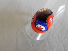 BAGUE ANCIENNE OVALE VERRE MURANO MILLEFIORI VINTAGE RING AJUST T 52 53 54 55 56