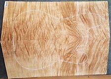 Flame TIGER Curly Maple Wood 7434 Luthier 5A Guitar Top Set 25 x 17+ x  5/8