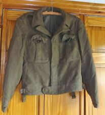 WW II Vintage Wool Bomber Jacket, Army Green, men's 36 R
