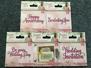 CRAFTERS COMPANION GARDEN OF LOVE DIE WEDDING DAY PLACE CARD INVITATION EVERLAST