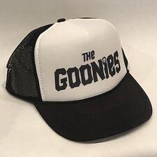 The Goonies Trucker Hat Old Movie Logo Vintage Style Mesh Snapback Cap Black