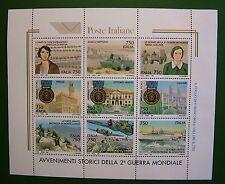 Italia 1995  Avvenimenti Storici della 2° Guerra Mondiale Foglietto  9v   MNH**