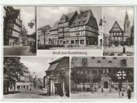 Ansichtskarte Quedlinburg - Am Markt/Marktkirchhof/Rathaus - schwarz/weiß