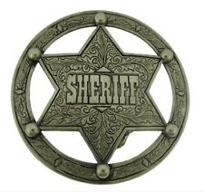 Star Belt Buckle Texas Us Sheriff Badge Men Cowboy Western Vintage Metal Fashion