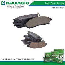Nakamoto Front & Rear Premium Posi Ceramic Disc Brake Pad Kit for Nissan Suzuki