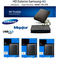 "HARD DISK ESTERNO 2,5"" 500GB 1TB 2TB 4TB SAMSUNG MAXTOR WINDOWS 10 XBOX ONE PS4"