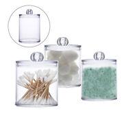 Clear Cotton Swab Ball Organizer Dispenser Q-Tips Holder Storage Jar  Makeup Box