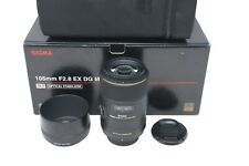 Sigma 105mm Macro Lens F/2.8 EX OS HSM DG, Stabilised for Nikon, Very Good Cond.