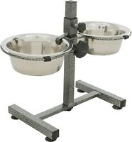 Dog Feeding Bowls with Stand - Raised Feeder