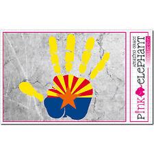 Arizona - Aufkleber A4 - Hand - Fahne - palm print finger - flag Flagge mano
