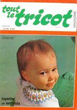 Revue de mode Catalogue de tricot - Tout le Tricot n°106 - 1975 - Layette enfant