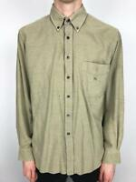 Vintage BURBERRY LONDON Thick Shirt | 90s Casual Retro | Large L Brown