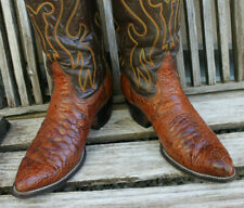 Super Rare Vintage Exotic Men's Cowboy Western Boots 9 1/2 D from 70's/80's