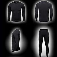 Men's Ski Ultra-Soft Fleece Thermal Top Bottom Long Johns Underwear Set Outdoor