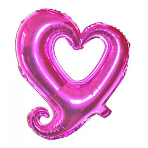 """18"""" Hot Pink Heart Shape Helium Foil Balloon Wedding Baby Shower Birthday Party"""