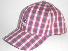 NEW Kangol LIBERTY NATIONAL BASEBALL Hat Blue Red Plaid S/M ($35) Cap Flexfit
