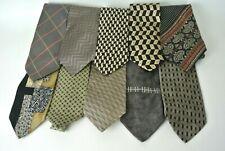 Men's Assorted Multi-Color Brown Dress Neck Ties Lot of 10 Designer Brands #1008