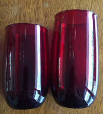 Antique Glassware Tumbler Ruby Red TWO