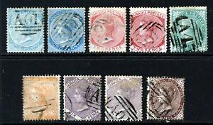 JAMAICA Queen Victoria 1860-70 Watermark Pineapple Set SG 1 to SG 6 VFU