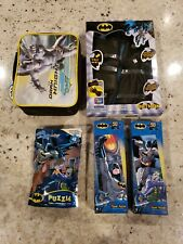 Batman lot! Puzzles, Gloves, and TDK lunchbox!