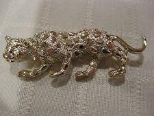 Lepord Pin Broach Mw: Vintage Women'S Silver