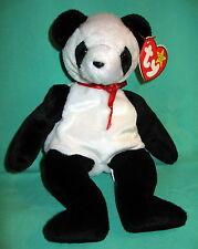 Fortune TY Beanie Baby Panda Teddy Bear MWMT Birthday December 6, 1997 #4196