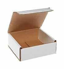 50 5x5x2 White Corrugated Carton Cardboard Packaging Shipping Mailing Box Boxes