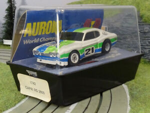AURORA AFX / G-Plus | FORD CAPRI RS 2600 | wht - grn- blu #21 | USED BOX | VHTF