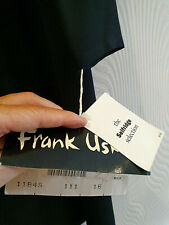 16 Black Crepe 20's Unusual Dress FRANK USHER  - 102cms hips - NEW with TAGS -