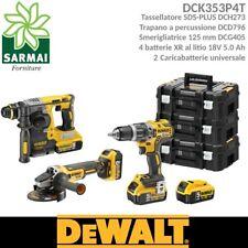 Dewalt Dck353p4t Kit Utensili Brushless XRP 18v Dcd796 Dch273 Dcg405