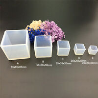 DIY Silicone Cube Molds Resin Casting Crafts Jewelry Pendant Making Mould Tools