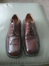 KENNETH  COLE NEW YORK DARK BROWN LEATHER LACED SHOES SIZE 7.5