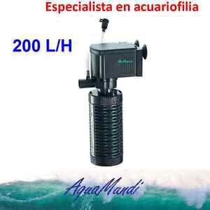 filtro interior interno acuario 200 L/H ip408 barato tortuguera pecera