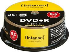 Intenso DVD+R Double Layer Rohlinge, 8,5GB, 8x Speed, 25er Spindel