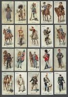 1895 Wills's Cigarettes Soldiers of The World Tobacco Cards Near Set of 78/100