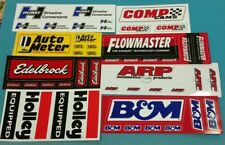 FLOWMASTER B&M ARP HOLLEY EDELBROCK HURST COMP CAMS racing decals sticker sheets