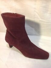 Marks&Spencer Purple Ankle Suede Boots Size 3.5