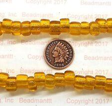 Antique Vintage Venetian Honey Gold Crow Trade Beads  # 127 Rendezvous