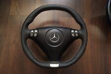Lederlenkrad MERCEDES SLK W171 R171 W203 C klasse AMG Steering wheel flat bottom