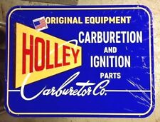 Awesome Holley Carburetor Sign, Heavy Steel, Brilliant Color and Great Graphics