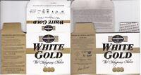 1264) GAMEBORE WHITE GOLD FIBRE 12g 70mm 28gr No 8  EMPTYSHOTSHELL BOX