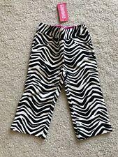 NWT NEW Gymboree Wild One zebra print soft jeans elastic 2T 2 yrs old baby girl
