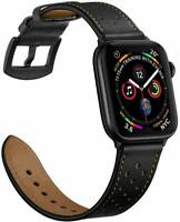 For Apple Watch Series SE 3/4/5/6 38/40/42/44mm Strap Genuine Leather Wrist Band