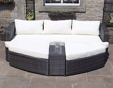 Luxury 4pc Rattan Wicker Outdoor Garden Furniture Lounge Daybed Sofa Set Brown